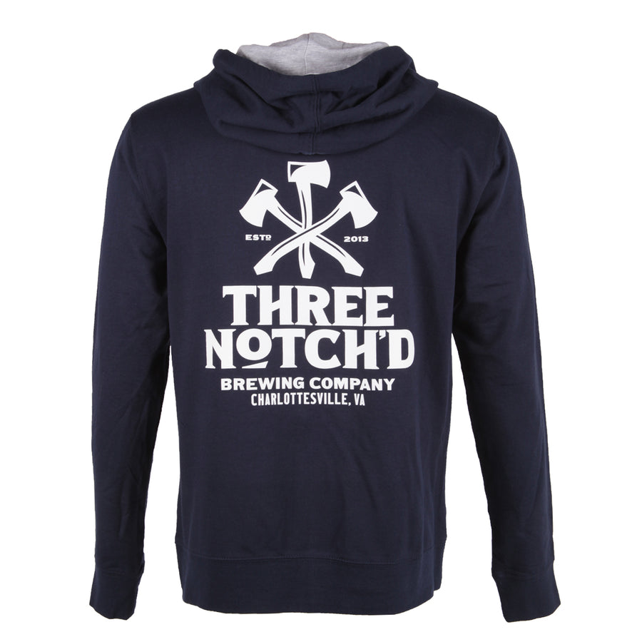 Charlottesville Location Logo Full Zip Hoodie - Midnight Navy