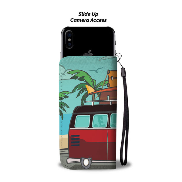 Surf Split Bus Phone Wallet Case