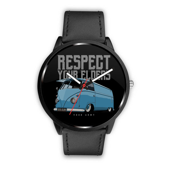 Respect Your Elders Bus Premium Watch - CHOOSE YOUR OWN WRIST BAND