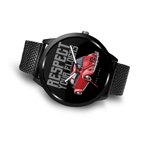Respect Your Elders Bug Premium Watch - CHOOSE YOUR OWN WRIST BAND