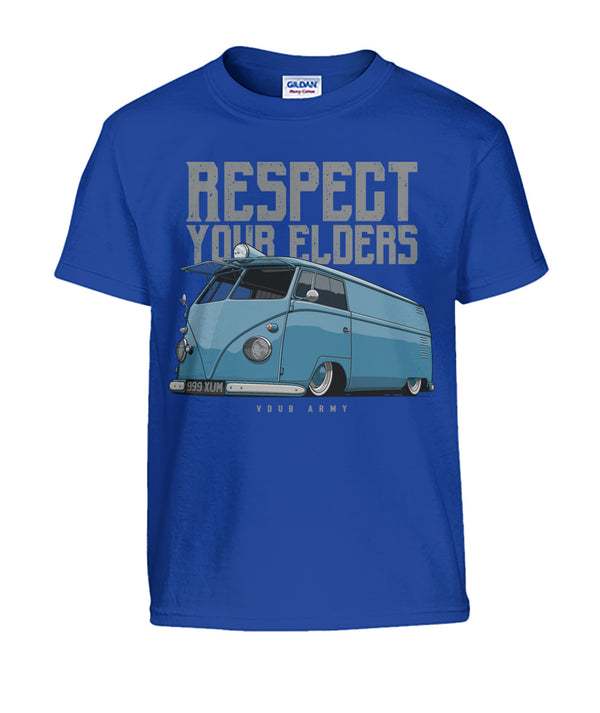 Respect Your Elders Bus Kids T-Shirt