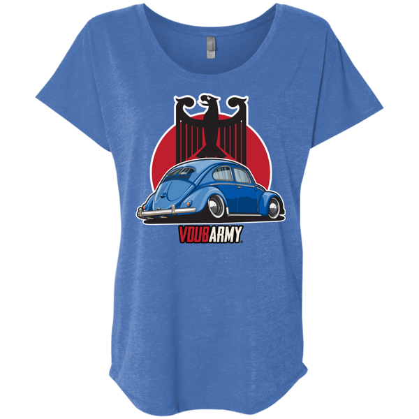 Split Bug Eagle Womens Loose T-shirt