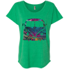 Bus Flower Womens Loose T-Shirt