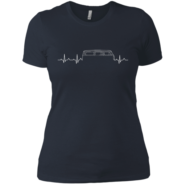 Bus Heartbeat Womens T-Shirt