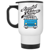 Aircooled Vintage Bay White Travel Mug