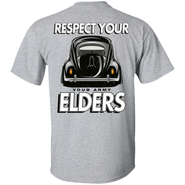 Respect Your Elders Oval T-Shirt (Back Print)