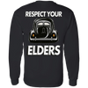 Respect Your Elders Split Longsleeve Shirt (Back Print)