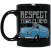Respect Your Elders Bus oz. Black Mug