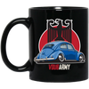 Split Bug Eagle 11 oz. Black Mug