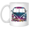 Bus Flower 11 oz. White Mug