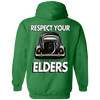 Respect Your Elders Oval Hoodie (Back Print)