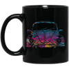 Bug Flower 11 oz. Black Mug