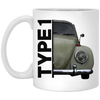 Type 1  11 oz. White Mug
