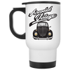 Aircooled Vintage Bug  White Travel Mug
