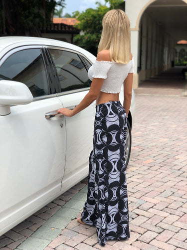Printed Wide Big Pants