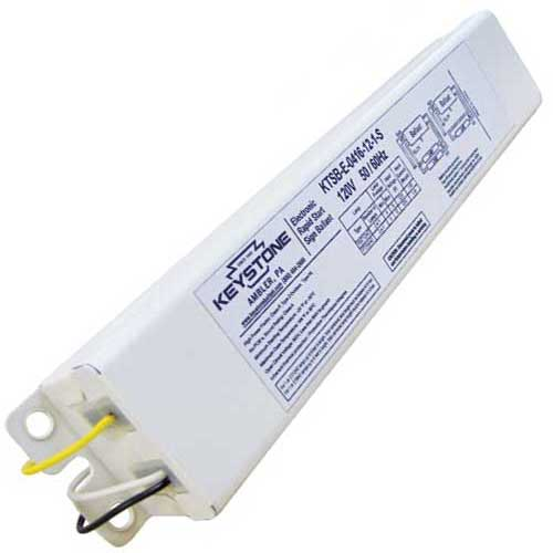 Electronic Series Wired Sign Ballast 1-2L 4-16'