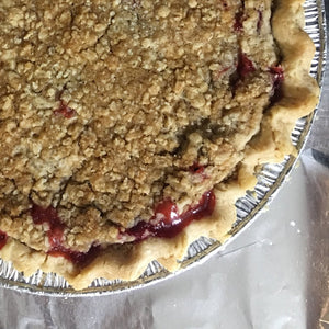Frozen Strawberry Rhubarb Crumble