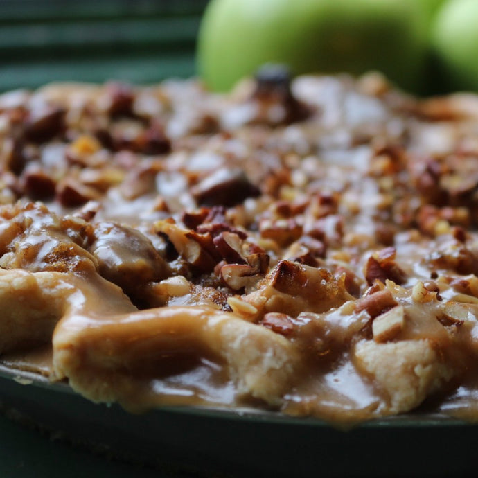Baked Salted Caramel Apple Pie