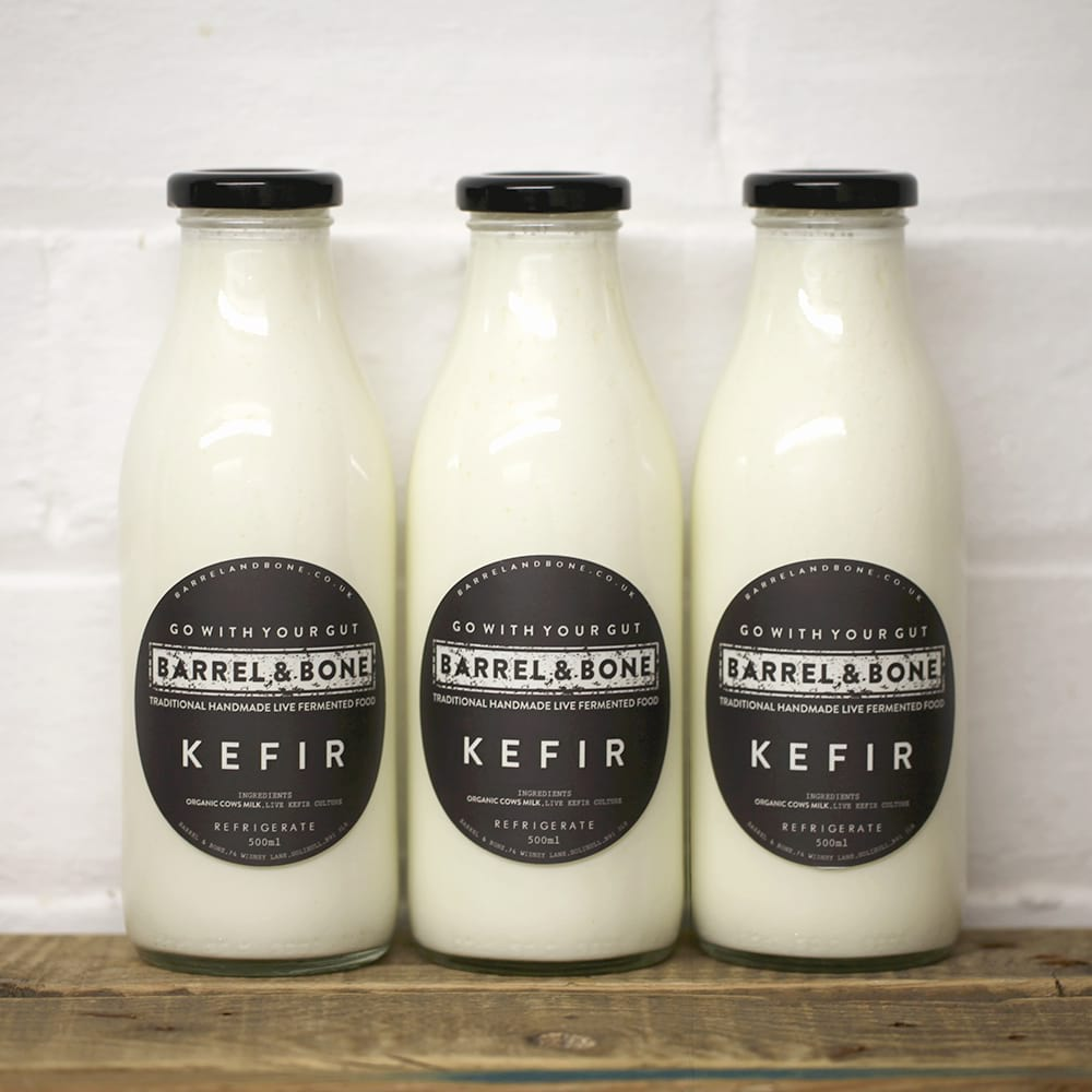 Kefir 500ml. Live Fermented.  Made with organic cow's milk.