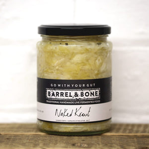 Naked Sauerkraut 500g.  Live Fermented.  Just cabbage and Himalayan salt, clean tangy flavour