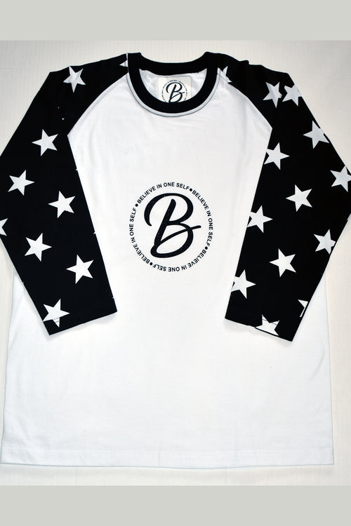 B.I.O.S. Men 3/4 Sleeve T-Shirt - Star Struck
