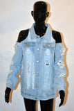 B.I.O.S. Women Distressed Denim Jacket
