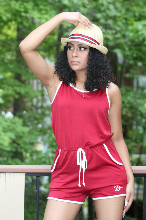 B.I.O.S. Athletic Drawstring Romper