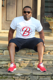 B.I.O.S. Men's V-Neck Logo T-Shirt