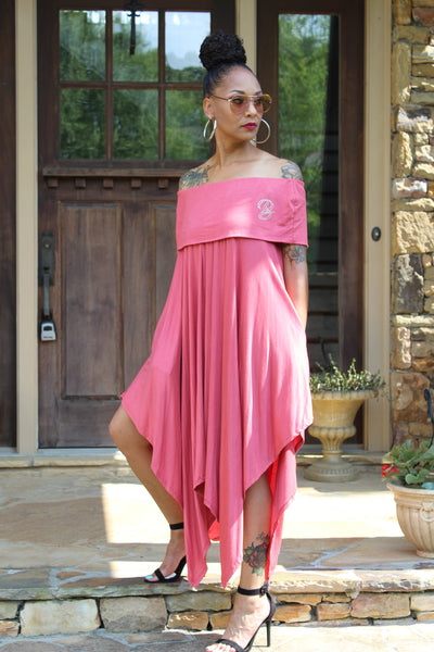 B.I.O.S. Flowing Off-Shoulder Dress