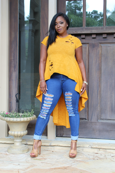 B.I.O.S. Loose Off Shoulder Jumpsuit (yellow/black)