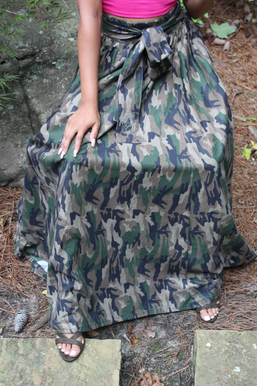 B.I.O.S. Flowing Camouflage Skirt