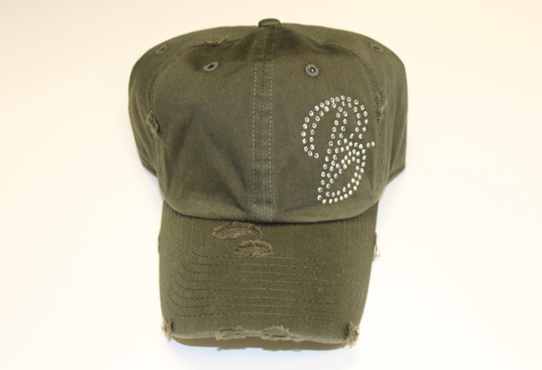 B.I.O.S. Women 'B' Distressed Baseball Cap