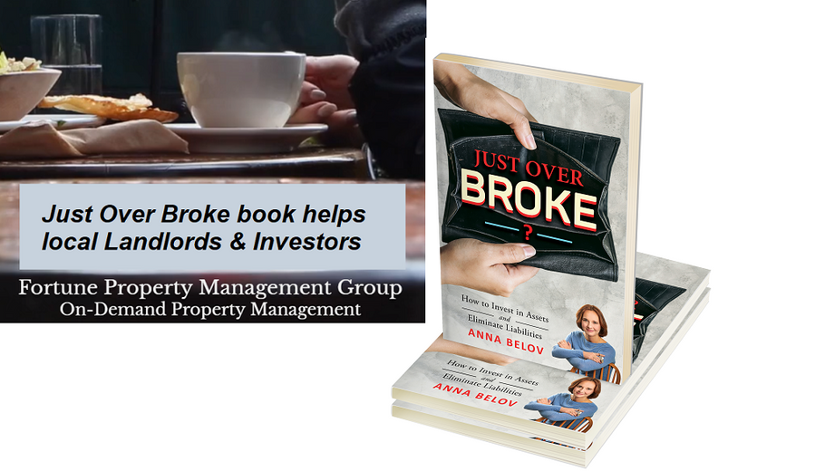 Partner at Fortune Property Management praises Just Over Broke Book as Genuine and Informative Contribution to the Local Landlord & Investment Community