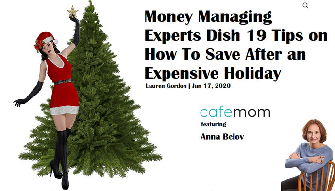 CafeMom & Anna Belov Help Moms to Recover from Holiday Shopping Bonanza