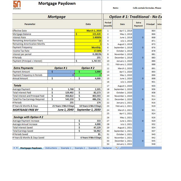 Fast Mortgage Paydown Screenshot