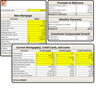 Refinance and Debt Consolidation Calculator (Excel Template)