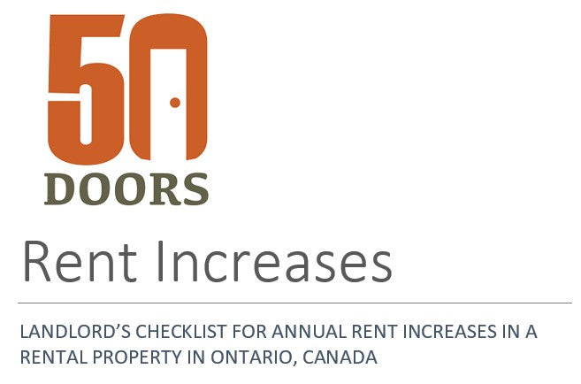 LANDLORD'S CHECKLIST FOR ANNUAL RENT INCREASES IN A RENTAL PROPERTY IN ONTARIO, CANADA