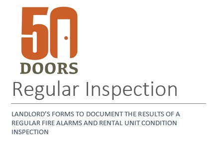 LANDLORD'S FORMS TO DOCUMENT THE RESULTS OF A REGULAR FIRE ALARMS AND RENTAL UNIT CONDITION INSPECTION