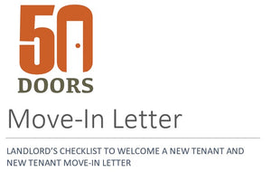 LANDLORD'S CHECKLIST TO WELCOME A NEW TENANT AND NEW TENANT MOVE-IN LETTER