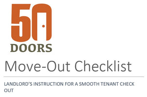 LANDLORD'S INSTRUCTION FOR A SMOOTH TENANT CHECK OUT
