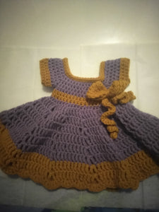 Handmade Crocheted Baby Doll Dress