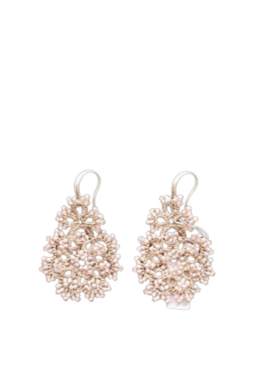 Lace Classica Pink Earrings