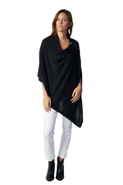 Button Poncho - Neutrals
