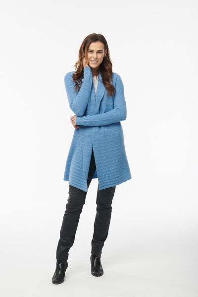 Cashmere Ribbed Sweater Coat