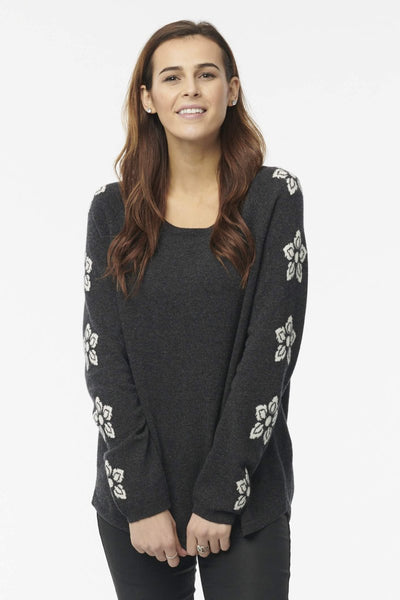 Cashmere Flower Power Pullover