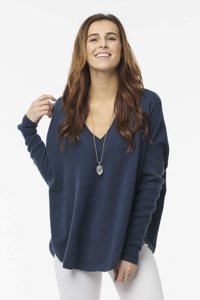 Baseball  Cashmere V-Neck