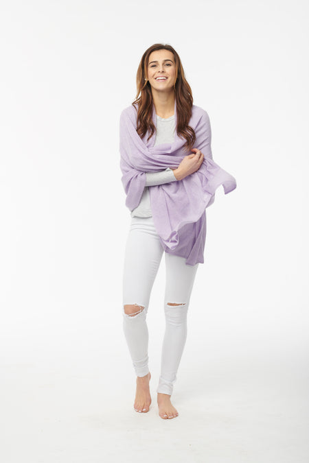 Cashmere Button Poncho - Cable Knit