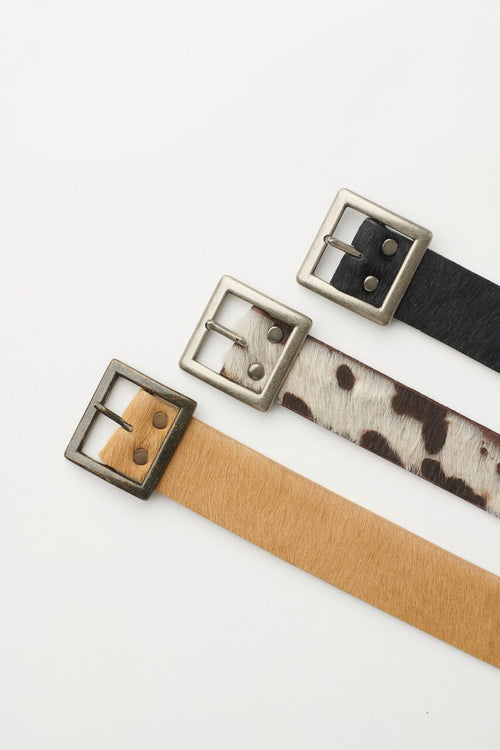 Beige Cow Hide Belt