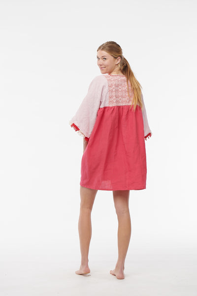 Nina Leuca, Short Hot Pink Desy Dress
