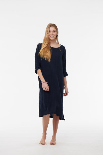 Everyday Long Sleeve Gauze Dress